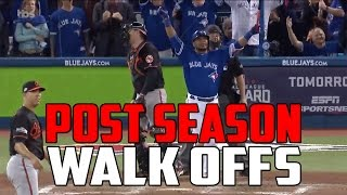 MLB | Postseason Walk Off Compilation