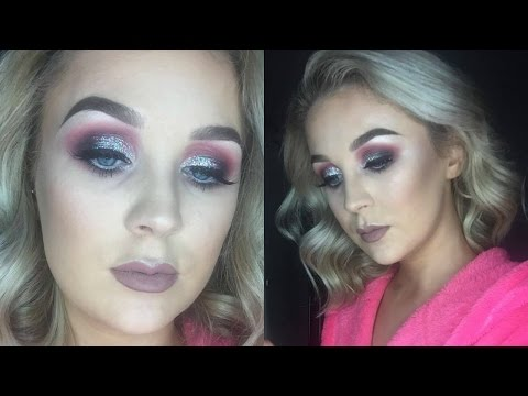 Pink and Silver Glittery Smokey Eye | Hannah Ferguson