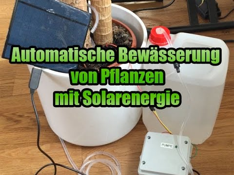 pflanzen automatisch bew ssern mit arduino youtube. Black Bedroom Furniture Sets. Home Design Ideas