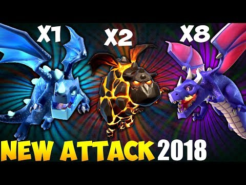 Electro Dragon + Dragon: ELECTRO LADRAG NEW TH9 STRONG WAR ATTACK STRATEGY 2018 | Clash of Clans
