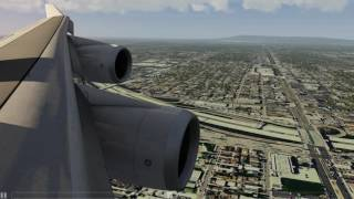 Stormy Los Angeles Approach 747-400 ++ Aerofly FS 2 ++