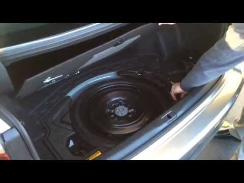 2015 Lexus Is Spare Tire Youtube