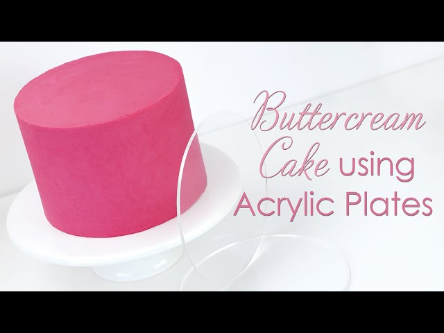 Covering Cakes with Buttercream using Acrylic Discs / Ganache Plates