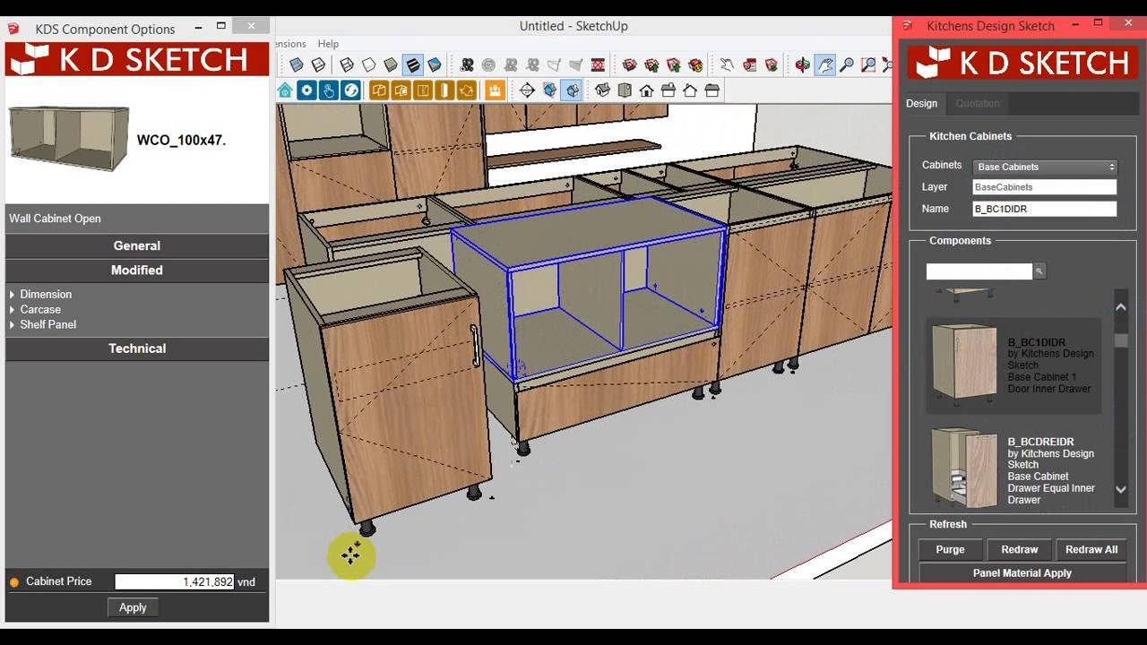 KDS Carpenter – hướng dẫn vẽ tủ bếp có đảo