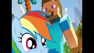 Rainbow Dash Plays Minecraft