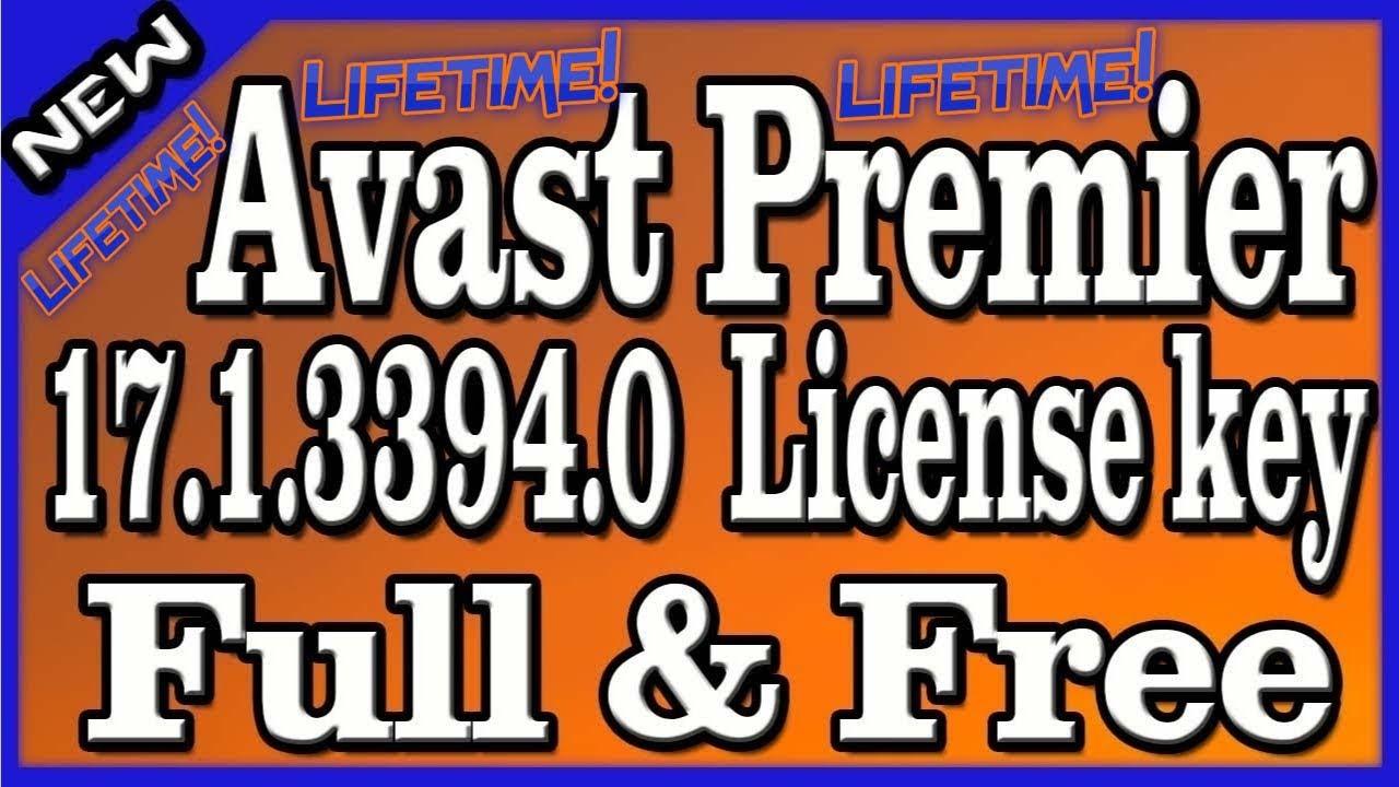 AVAST PREMIER FREE - 2018 - LIFETIME - LICENSE KEY - QUICK ...