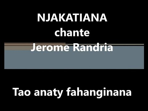 TAO ANATY FAHANGINANA - NJAKATIANA - Instrumentale 2016