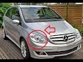 Mercedes B Class W245 Headlight Headlamp Removal and bulb replacement Lampenwechsel