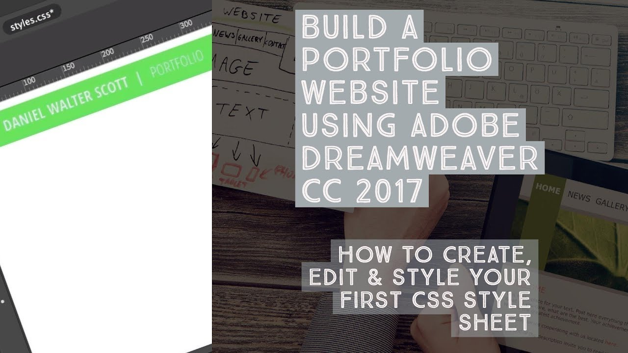 How to create, edit & style your first CSS style sheet - Dreamweaver ...