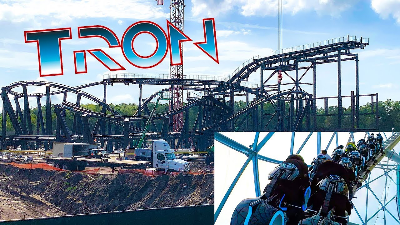 Tron Roller Coaster Construction Update July 2019 Magic Kingdom W Onride Pov Walt Disney World