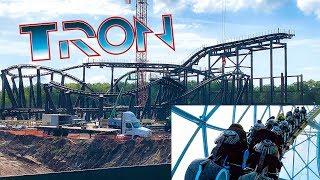 Tron Roller Coaster Construction Update! July 2019 Magic Kingdom w/ Onride POV - Walt Disney World
