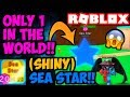 THE (SHINY) SEA STAR!! ONLY 1 IN THE WORLD!! (Bubble Gum Simulator Roblox)