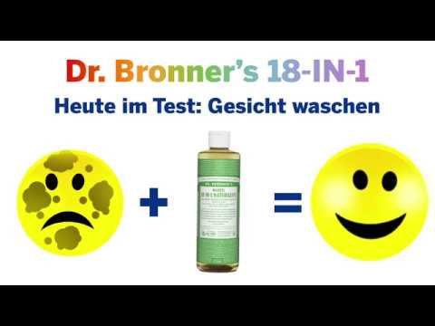 Dr. Bronner's Naturseife im Test: Gesicht waschen