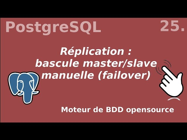 PostgreSQL - 25. Replication : resynchronisation manuel master/slave | tutos fr