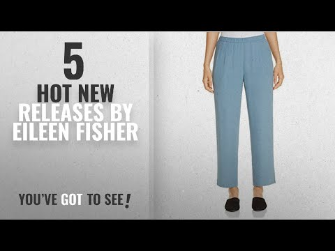 Hot New Eileen Fisher Women Clothing [2018]: Eileen Fisher Womens Petites Crepe Pleated Ankle Pants