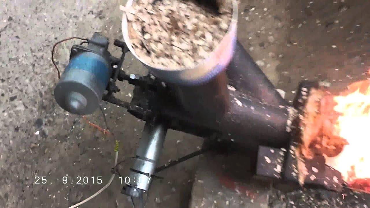 Woodchipp Pellets Homemade Burner Youtube