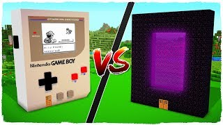 👉 Casa de PORTAL vs casa de GAME BOY - MINECRAFT