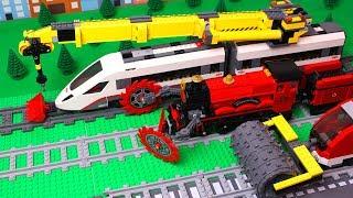 lego-crane,-bulldozer,-excavator-experimental-train-construction-kids-toy-vehicles