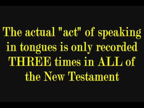 speaking in tongues The term 'speaking in tongues' (glossolalia) refers to one of the supernatural gifts of the holy spirit first witnessed on the the day of pentecost.