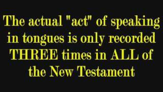 SPEAKING IN TONGUES  The Word of God - IN CONTEXT