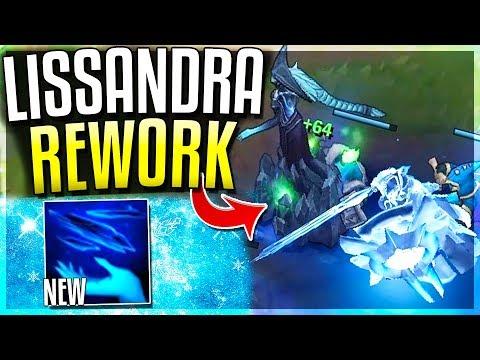 NEW LISSANDRA REWORK EXPLODES ENEMIES IN ICE? Lissandra Passive Rework Gameplay - League of Legends