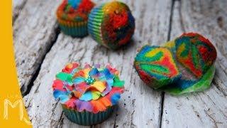 RUFFLES RAINBOW CUPCAKES (VOLANTES DE ARCO IRIS) | Decorando cupcakes