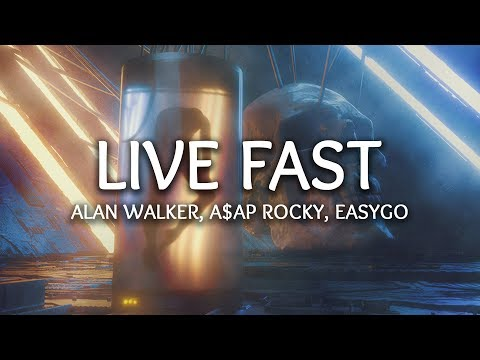 Alan Walker, A$AP Rocky ‒ Live Fast (Lyrics) Narayan Remix
