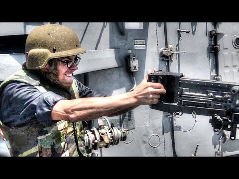 Sailors Engage Boat With .50 Caliber Machine Gun