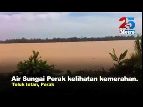 Air Sungai Perak kelihatan kemerahan