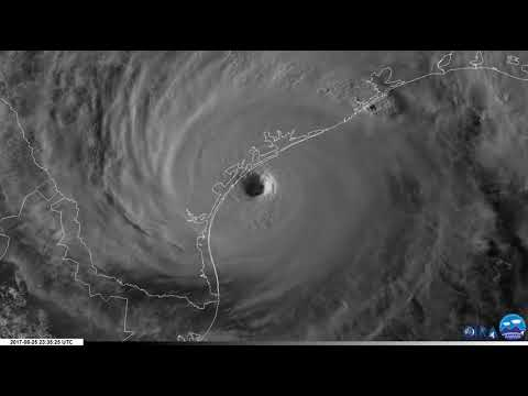 Hurricane Harvey 1-minute Satellite Imagery