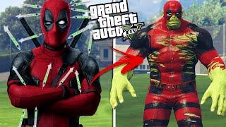 DEADPOOL transforms into the HULK (GTA 5 Mods)