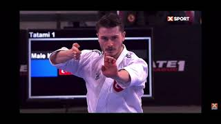 Karate 1 Lisbon 2021 Male Kata Final Ujihara Yuki (SUI) vs Ozdemir Enes (TUR)