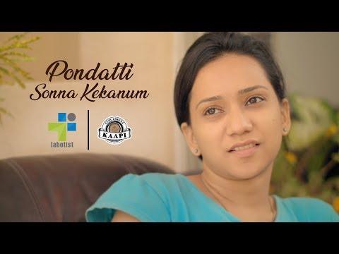 Pondatti Sonna Kekanum   Tamil Short Film   Ft RJ Vigneshkanth Black Sheep Deepthi   Labotist   4K