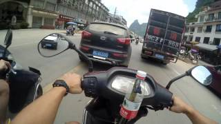 Riding in Yangshuo, China