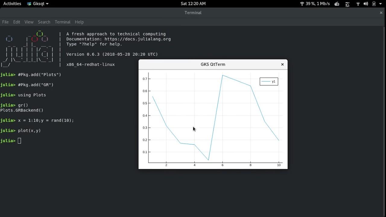 JULIA: Plot Graph