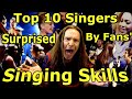 Vocal Coach Reacts To Top 10 Singers Surprised by Fans Singing Skills | Ken Tamplin