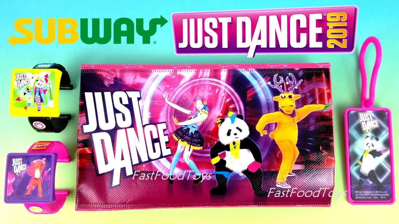 Subway Just Dance 2019 Kids Meal Toys Ubisoft Nintendo Switch Wii U