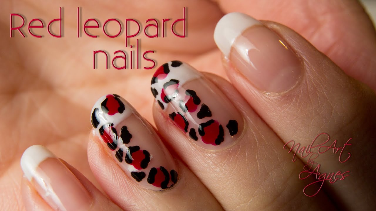 Red Leopard Print Nails Red leopard nai...