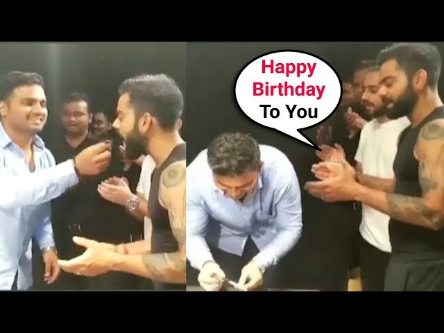 Virat Kohli Celebrates His Bodyguard's Birthday In Between His Commercial Shoot