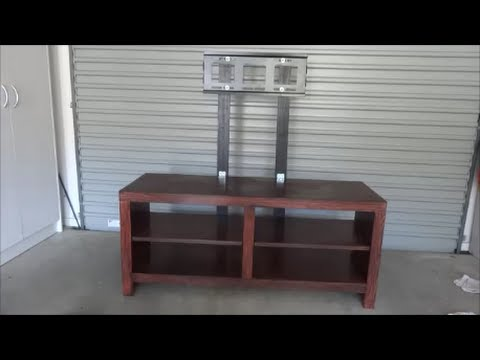 Do it yourself TV mount on Entertainment Unit - YouTube