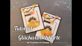 """[Tutorial] #4 - Glückwunschkarte """"Igel im Laubhaufen"""" mit Produkten von Stampin' Up!"""