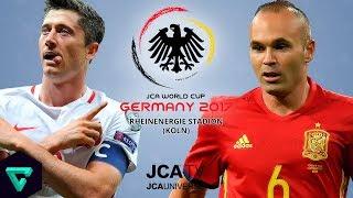 Poland vs. spain   group e 2017 jca world cup germany pes