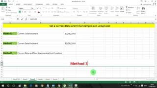 Adding Current Date and Time Stamp in Excel #Trick 8