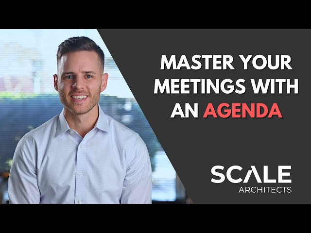 Master your meetings with an agenda