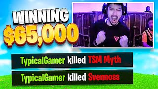 Typical Gamer Kills TSM Myth And Svennoss Winning 65000 Fortnite Fall Skirmish Tournament