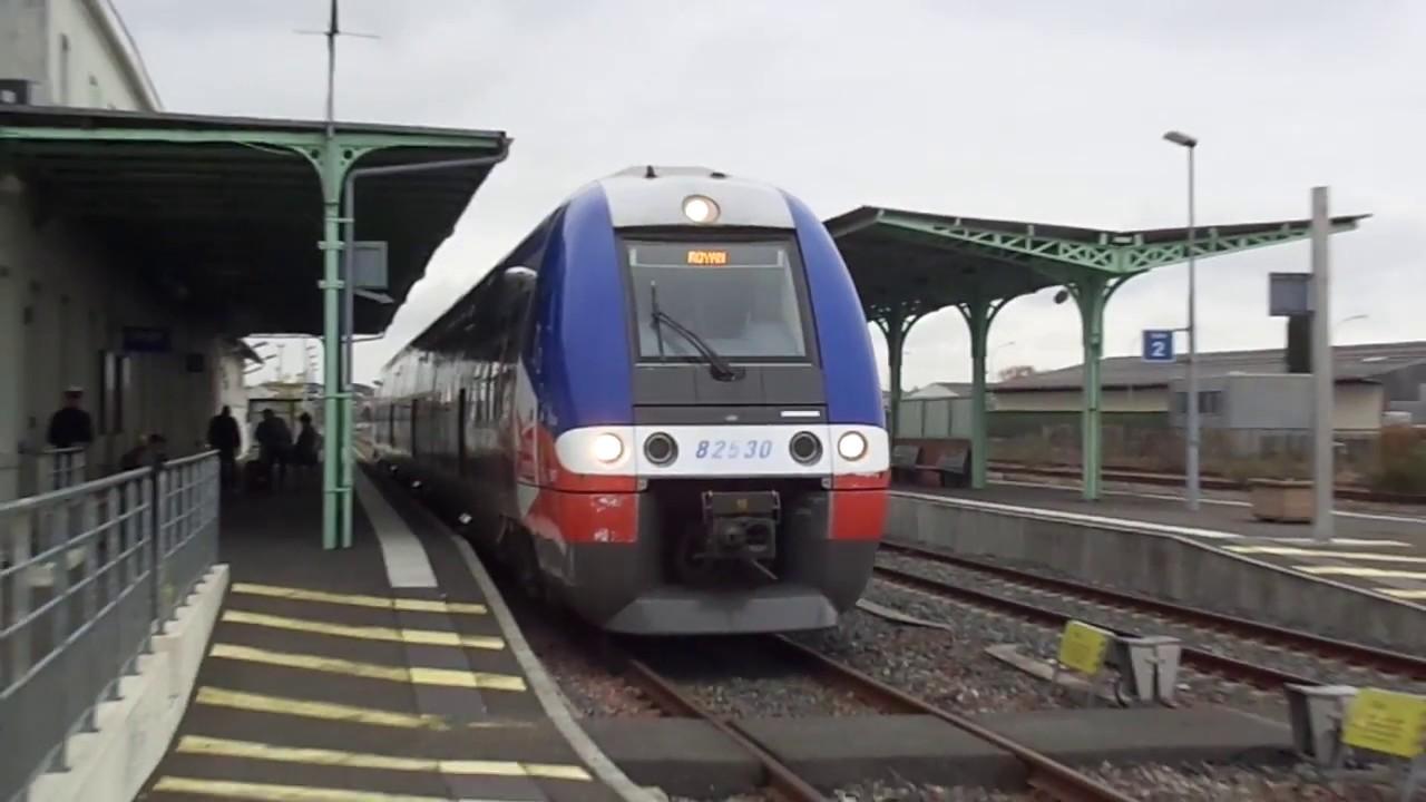 Départ TER POITOU-CHARANTES 64584 Angoulême-Royan en gare de Cognac