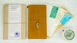 Midori Traveler's Notebook Unboxing and Quick Setup
