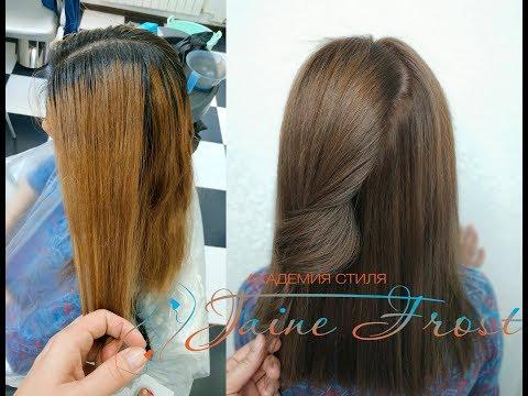 Окрашивание темных волос в русый цвет без осветления