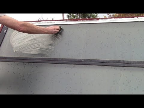 Solar Heat Panel Cleaning with Oil Soap and Baking Soda