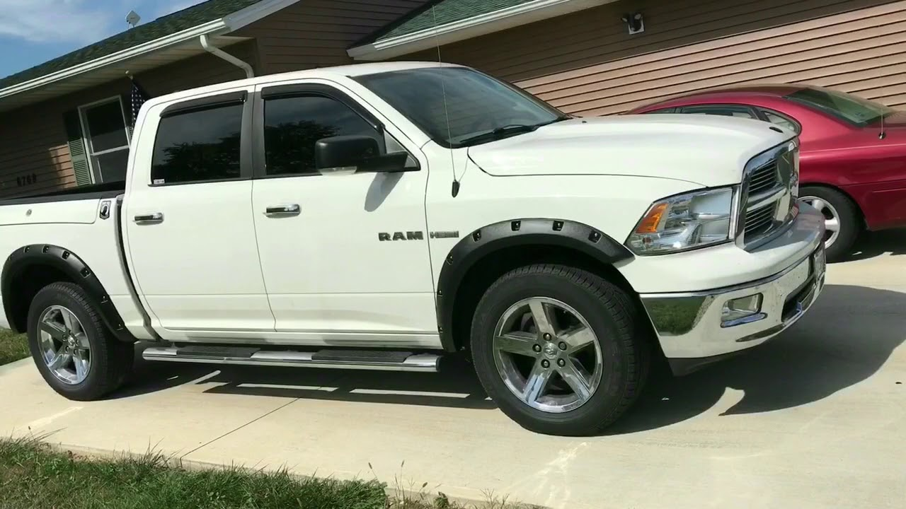 Fender Flares Before Amp After 2009 Ram 1500 Youtube